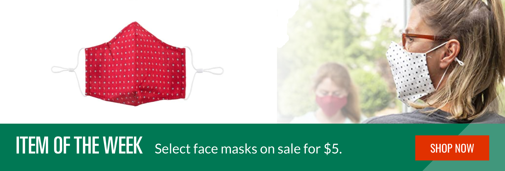 Select masks now $5 - Shop now