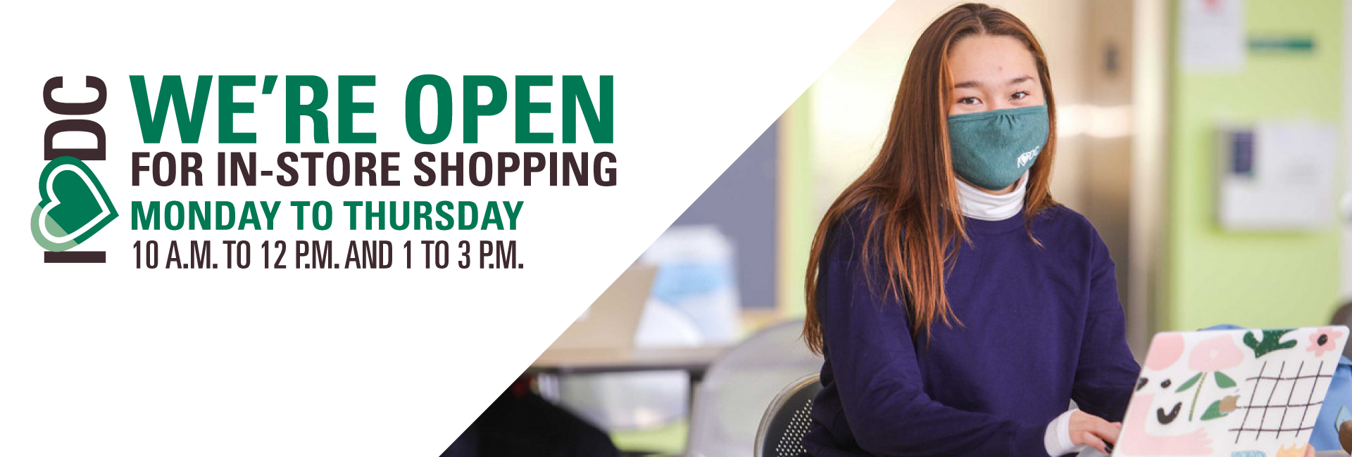 Campus store open for in-store shopping