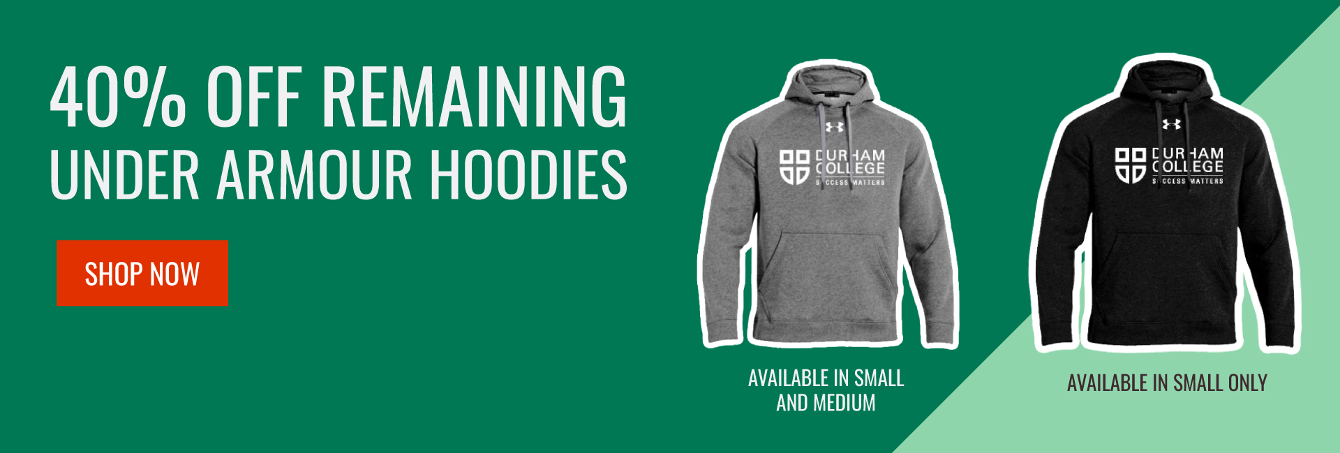 Remaining Under Armour Hoodies 40% off, select sizes only
